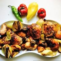 Tepsis csirke egytál