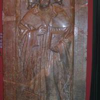 Vörösmárvány sírkő - Budapesti Történeti Múzeum
