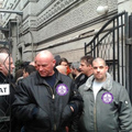Civil demonstrálók rontottak Fradi-drukkerekre
