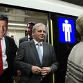 Tarlós István felavatta az új metrószerelvényt