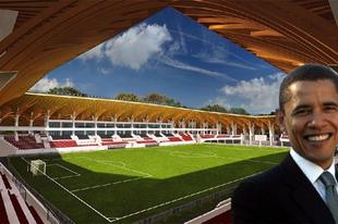 Barack Obama stadionépítésbe kezdett