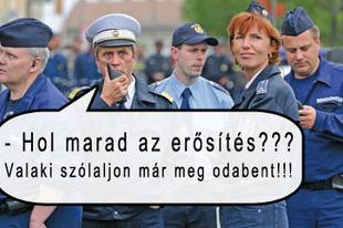 Csendkapitányt játszanak a rendőrök az örsökön