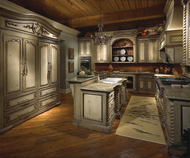 Toszk n hangulat konyh k de sign Old world tuscan kitchen designs