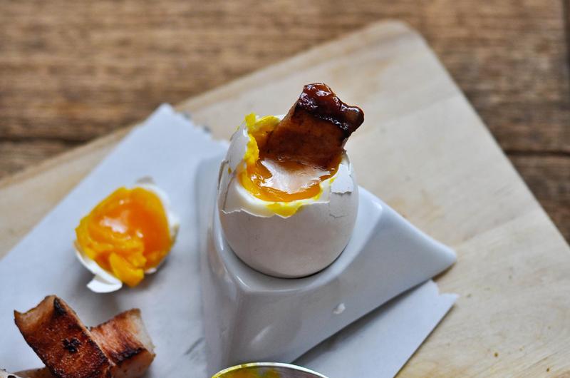 Bacon in Egg