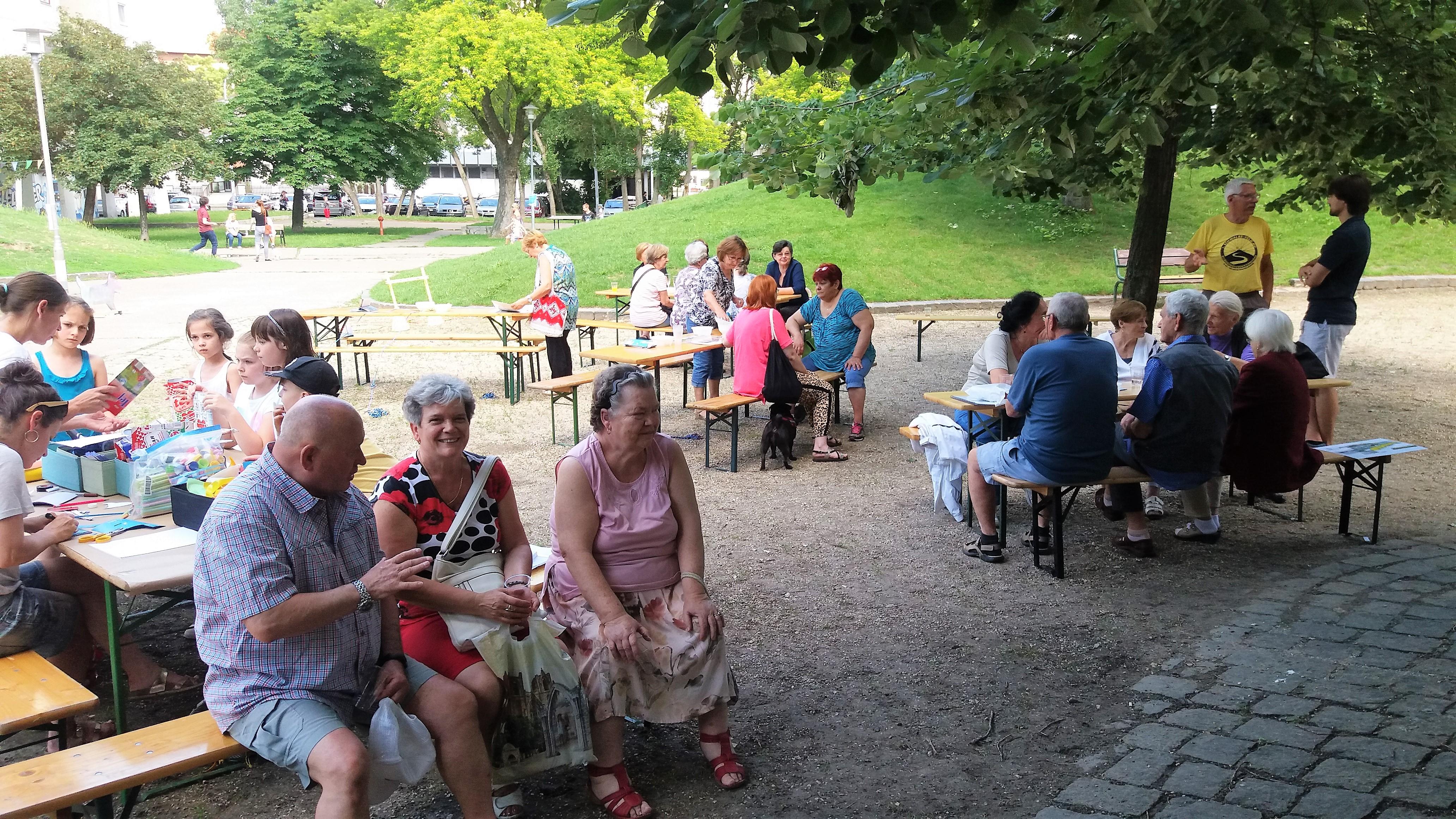 Piknikeztünk a parkban