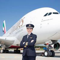 Angelika, az Airbus A380 óriásgép első tisztje
