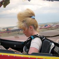 Szvetlana Kapanyina műrepülő világbajnoknő Szocsi repülése