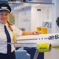 Giordana, Marina, Darja és Liina az airBaltic pilótanői