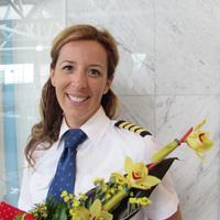 Gyöngyösi Diána, új magyar kapitány a közforgalmi repülésben