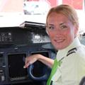 Skywork pilótanő a regionális járatokon