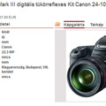 Canon EOS 5D Mark III kétszázezerért?