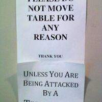 Mikor szabad elmozdítani az asztalt?