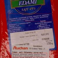 Takarékos címke az Auchanban