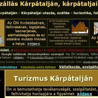 A Turizmus Kárpátalján honlap optimalizálása