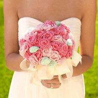 Horgolt menyasszonyi csokor
