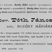 Vármegyei képviselők - Tóth János