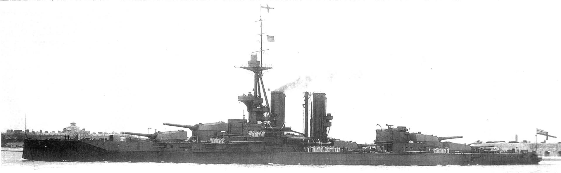 A kiváló formatervezésű King George V csatahajó.