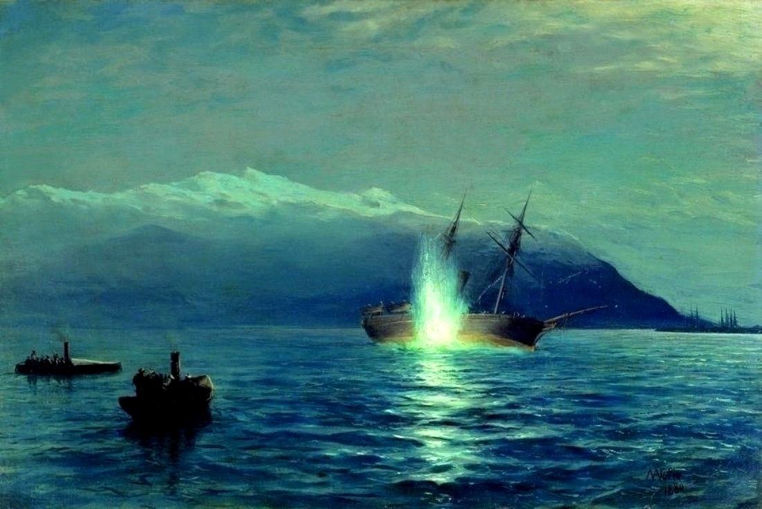 Az Intibah elsüllyesztése, a történelem első sikeres torpedótámadása.