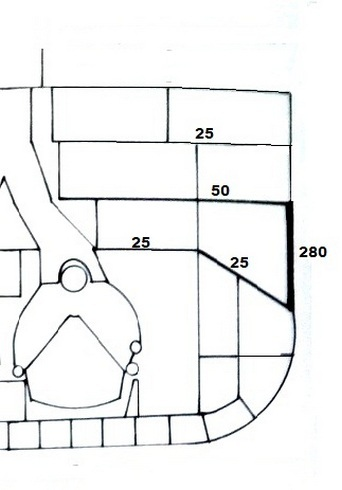 A Design 770 páncélzatának egyik terve, a klasszikus elrendezésben.