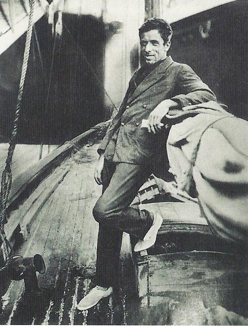 Gerbault a Firecrest fedélzetén.