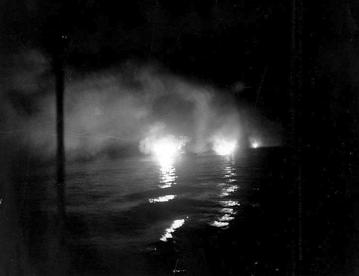 Éjszakai ütközet a Kula öbölnél, 1943 júliusában.