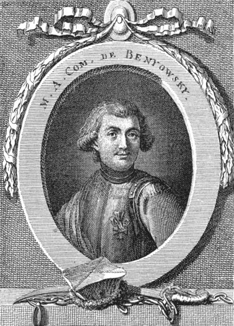 És itt a mi hősünk: Benyovszky Móric gróf. (1746-4786)