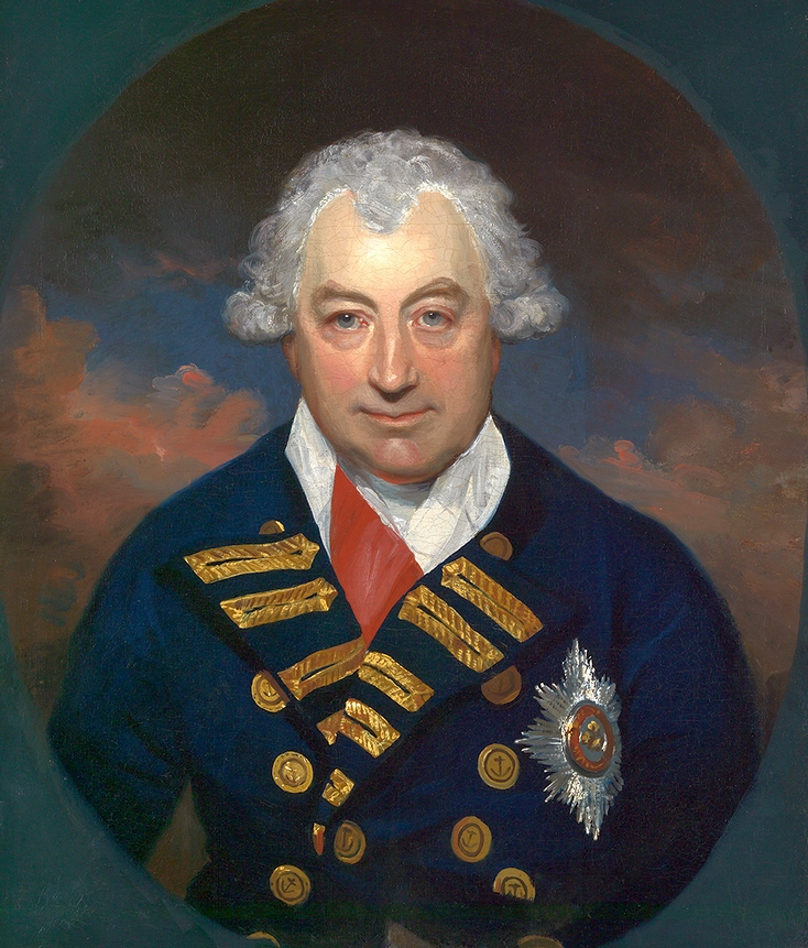 Jámbor nagypapinak tűnik, pedig a Royal Navy egyik legrettegettebb zsarnoka. Sir John Jervis, St.Vincent grófja.