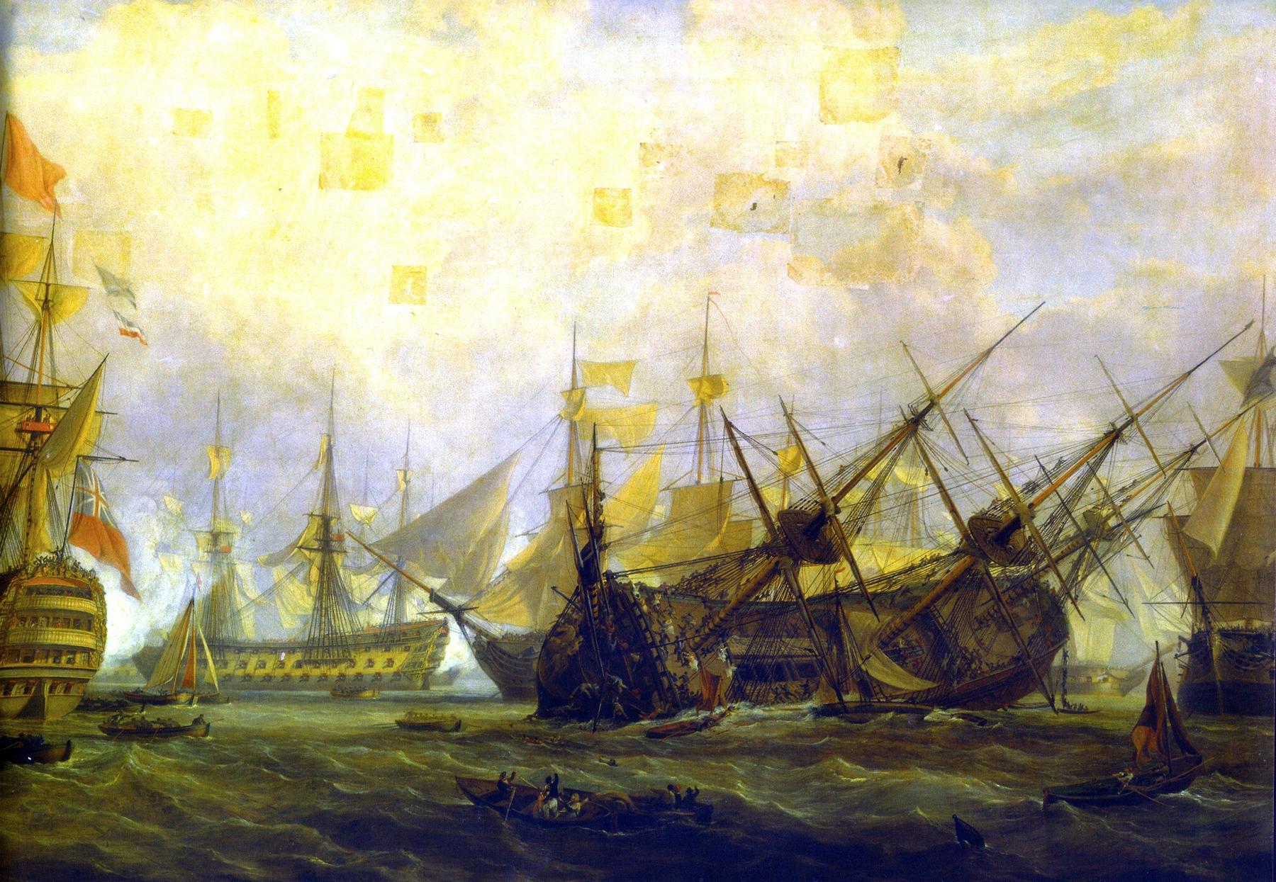 Egy szokatlan üzemi baleset. A karbantartási munkák végzéséhez túlzottan megdöntött Royal George felborul, és elsüllyed Portsmouth kikötőjében, 1782 augusztus 29-én.