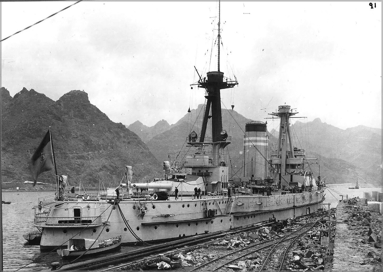 A Jaime I. Tenerife szigetén, a harmincas években.