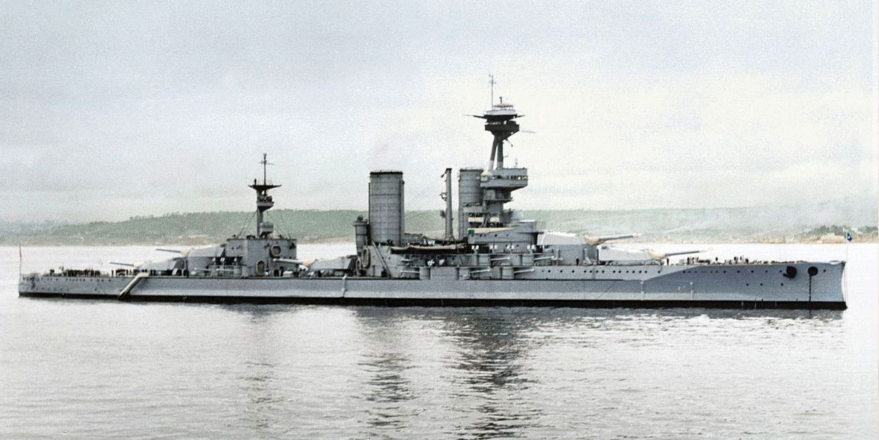 A chilei Almirante Latorre, a legjobb dél-amerikai csatahajó.