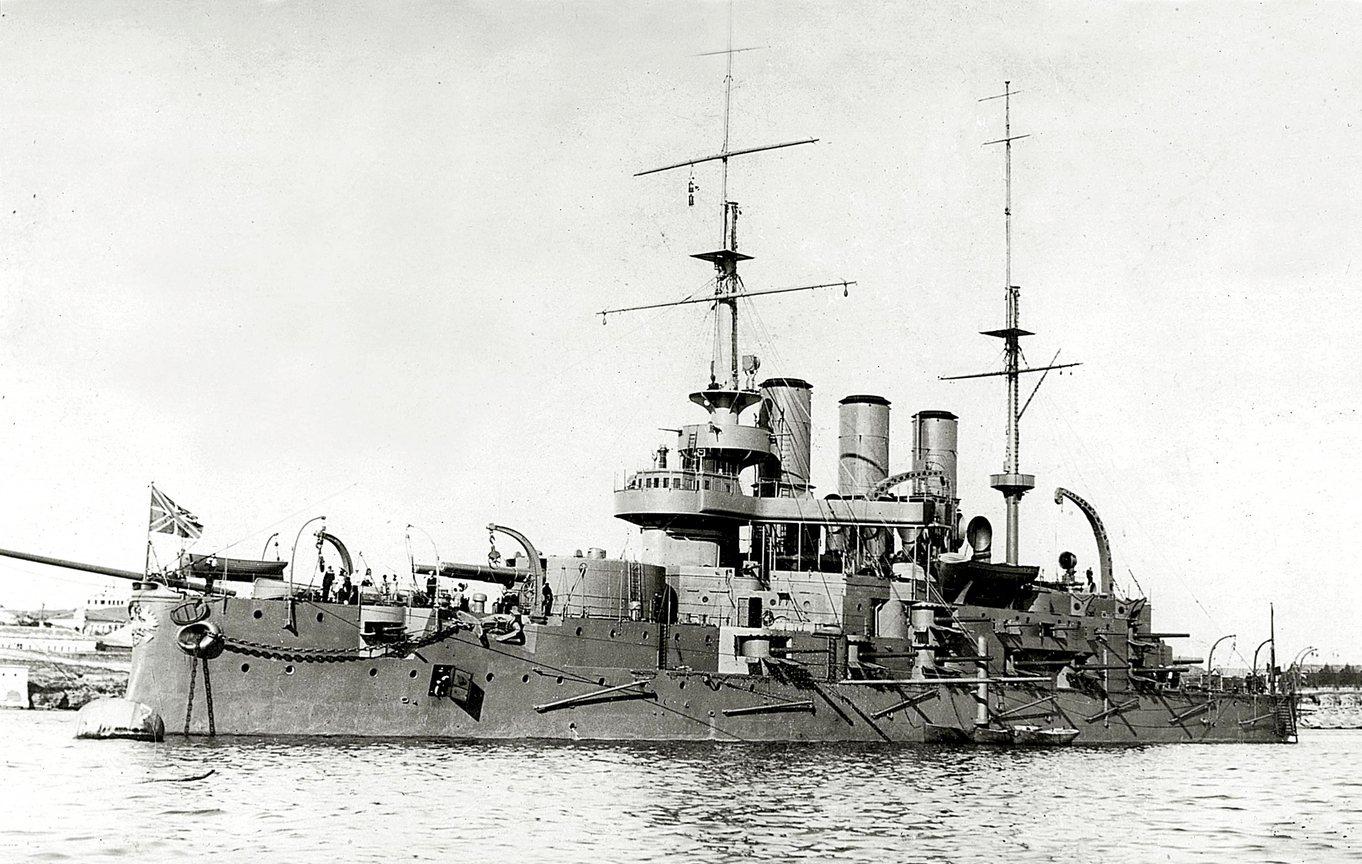 A cári haditengerészet legnagyobb hírnévre szert tett csatahajója, a Patyomkin.