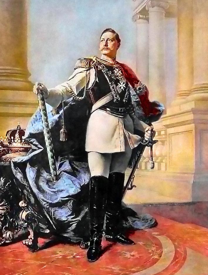 A germán hadisten. II. Vilmos Max Koner festményén.