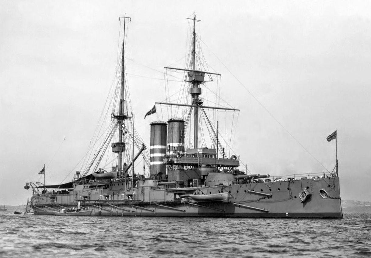 A Britannia, a King Edward VII. osztály egyik csatahajója.