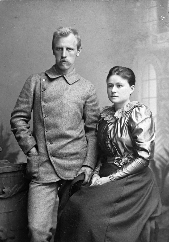Fridtjof Nansen, és első felesége, Eva Sars.