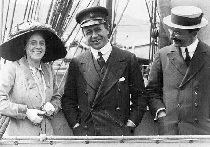 Scott és felesége, a Terra Nova fedélzetén.