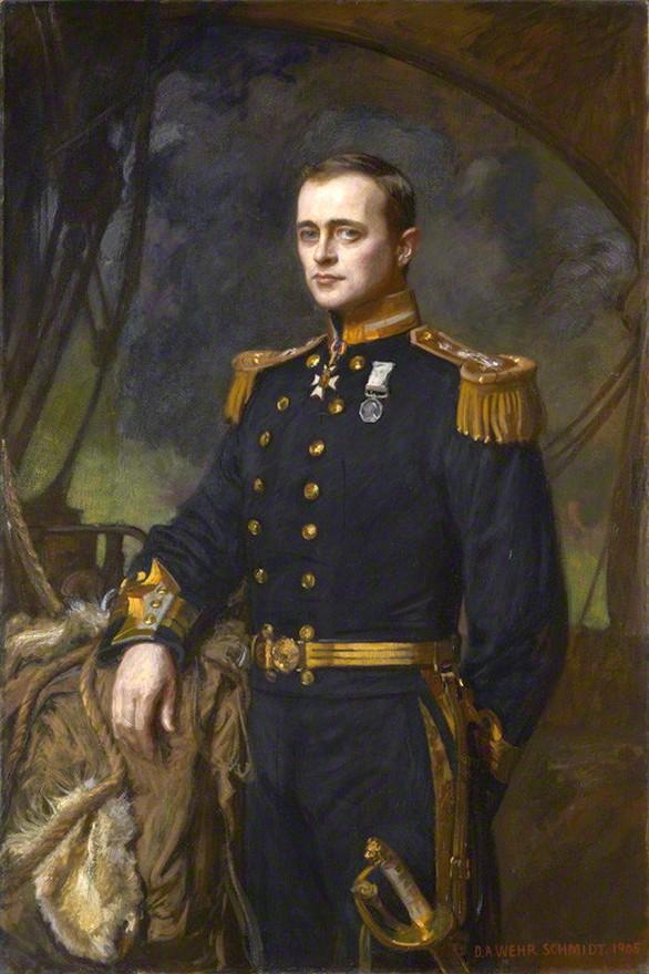 A viktoriánus úriember mintaképe. Robert Falcon Scott hivatalos portréja, 1905-ből.