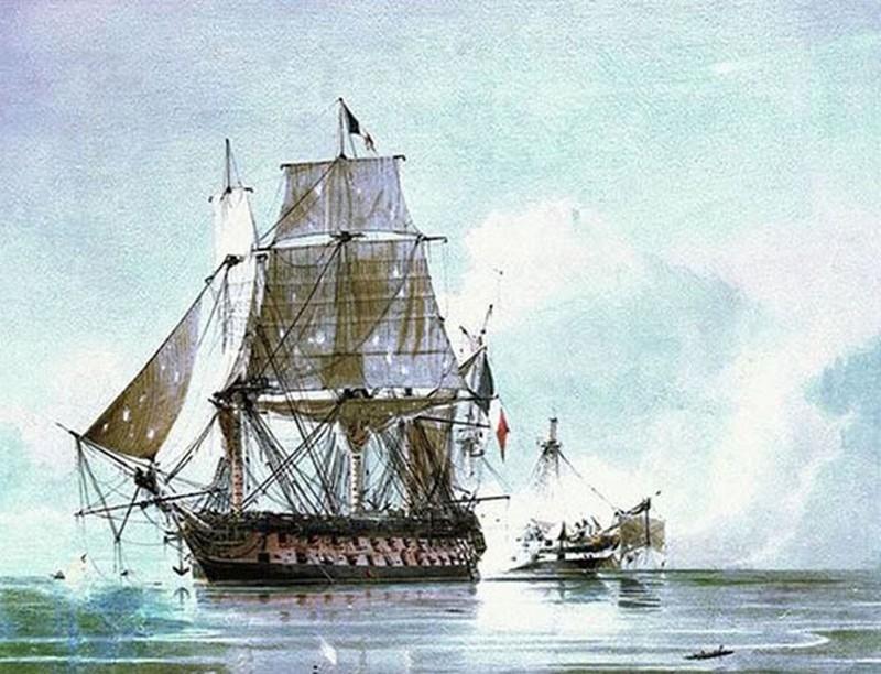 A Généreux 1798 augusztus 18-án elfogja az 50 ágyús angol Leandert.
