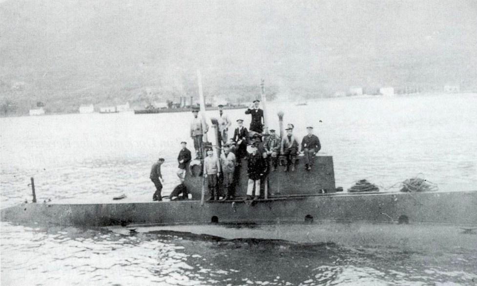 Az U-12, Cattaróban.