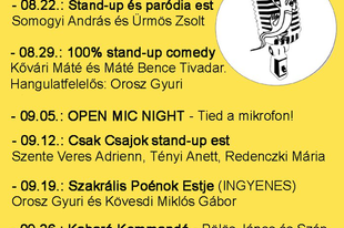 Stand up szerdák Budapesten!