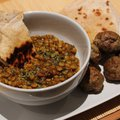 Bengáli lencse dhal, citromfüves húsgolyókkal és chapatival