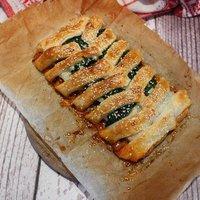Darált húsos, spenótos, karfiolos rácsos tészta