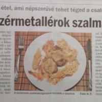 Heves Megyei Hírlap - Citromos szűzérmetallérok szalmaburgonyával