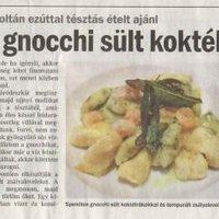 Heves Megyei Hírlap: Spenótos gnocchi sült koktélrákokkal