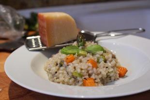 Spárgás, citromos, zöldséges rizottó