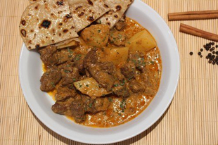 Burgonyacurry báránnyal