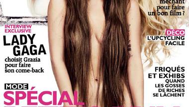 Lady Gaga  a 2013.09.13-ai Grazia címlapján