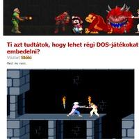Ti azt tudtátok, hogy lehet régi DOS-játékokat embedelni?