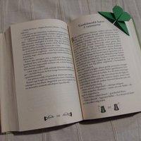 Origami könyvjelző szívvel