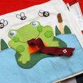 Ajándékötlet: mókakönyv textilből