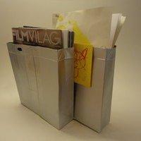 Ezüstszínű irattartók Tetra Pak dobozokból
